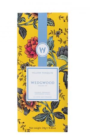 WEDGWOOD WONDERLUST YELLOW TONQUIN HERBAL BLEND TEA