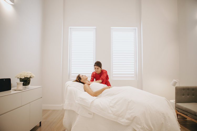 Jocelyn Petroni works her magic with some massage and meditation