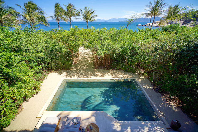 Six Senses features stunning plunge pools in every villa