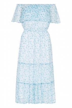 Paddo to Palmy Ponza Dress Turquoise Marguerite Print