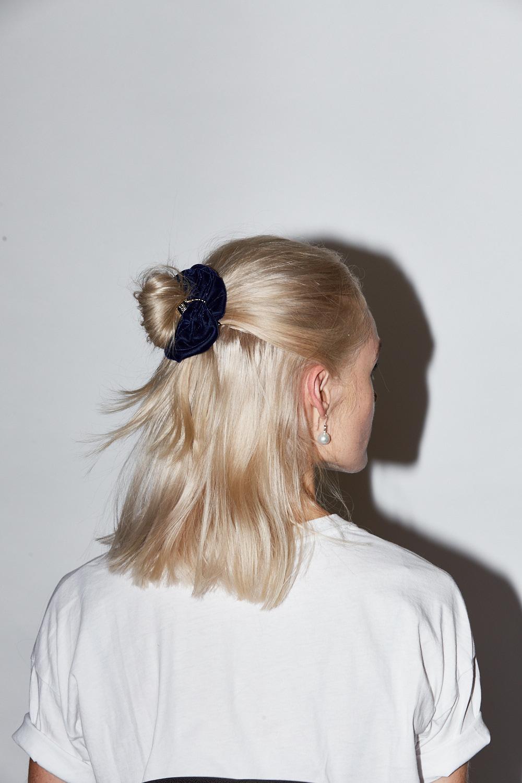 Scrunchies:  Paris Mode . Earrings: Kailis Jewellery.