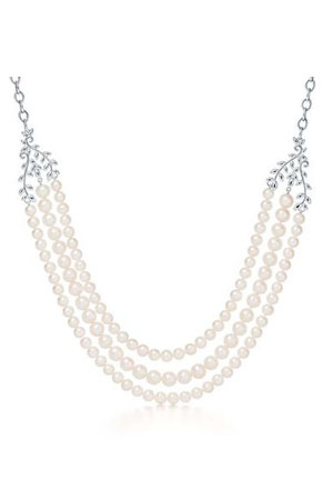 Tiffany's Paloma Picasso Olive Leaf Pearl Necklace