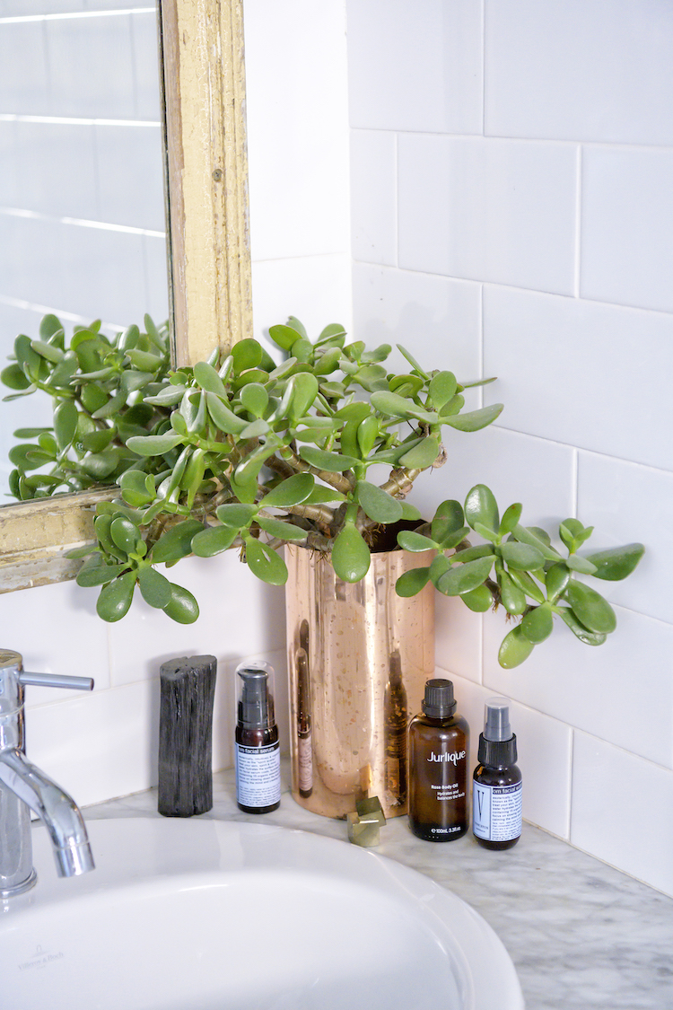 """"""" Venustus  has the most fabulous sprays and oils and I love them all. I also get lots of crystals from Jeannie (the owner) too – she's incredible. I like adding  Jurlique Rose Body Oil  to my baths.""""   Copper Vase from The Broad Place"""