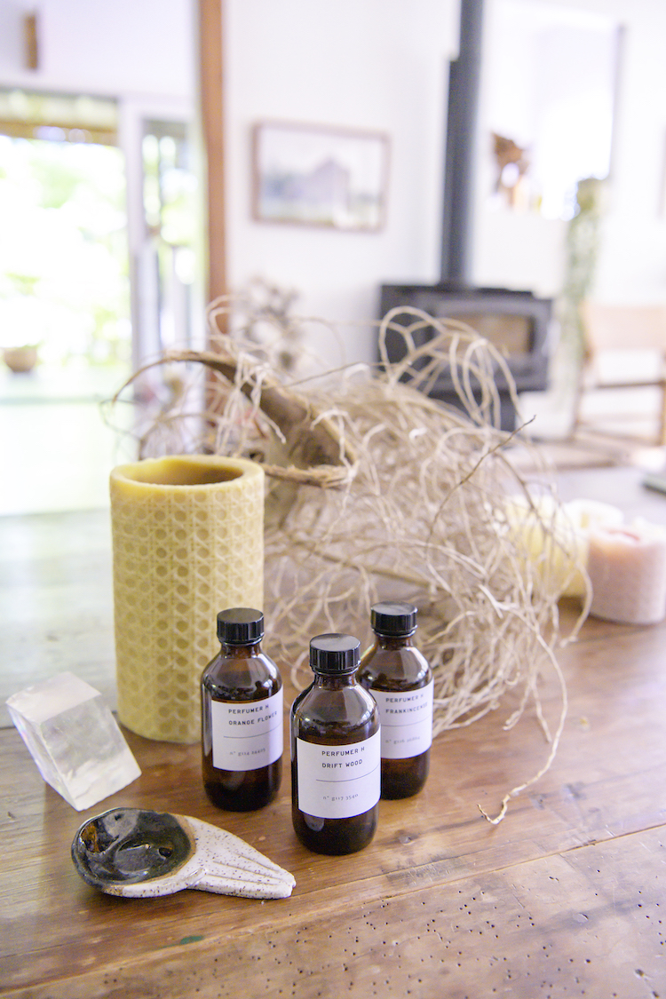 """""""These are  Perfumer H  scents – my three favourites, Frankincense, Driftwood and Orange Blossom."""""""