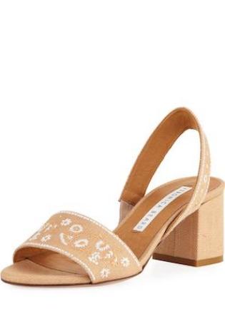 Veronica Beard Raffia Slingback Sandals