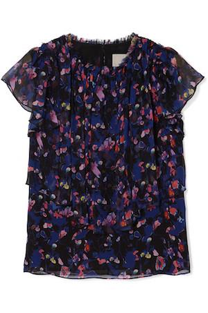 Jason Wu Floral-Print Silk Top