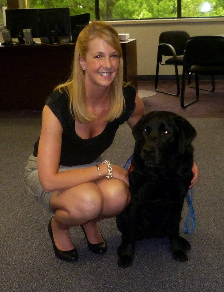 Beth with NEADS service dog ambassador, Currahee.