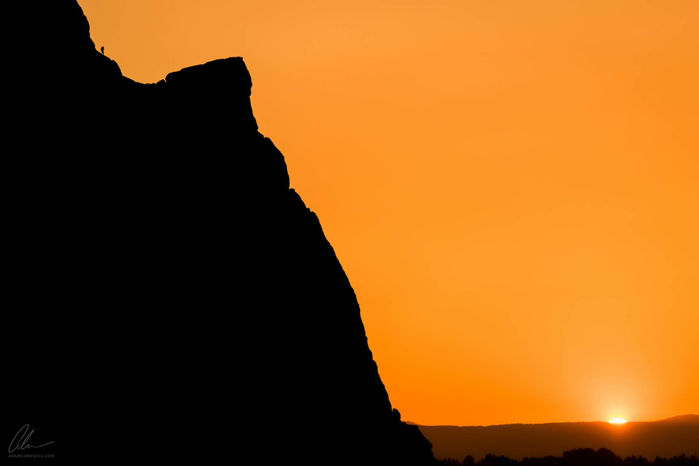 Climber at Sunset