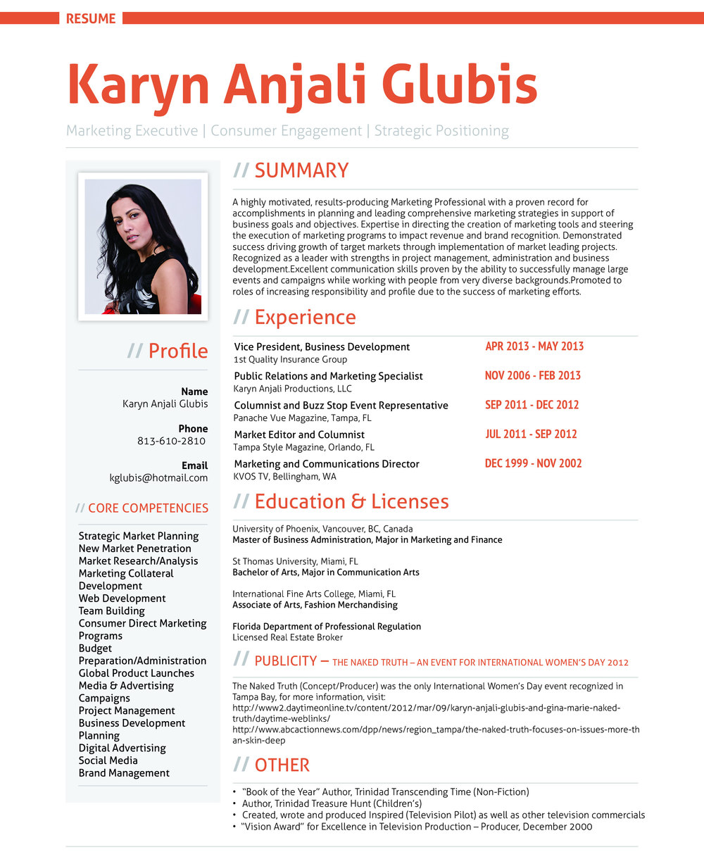 resumes with photo
