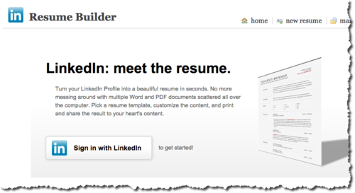 turn your linkedin profile into an actual resume with this
