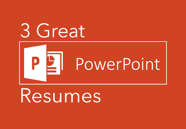 3 Great PowerPoint Resumes CareerCloud