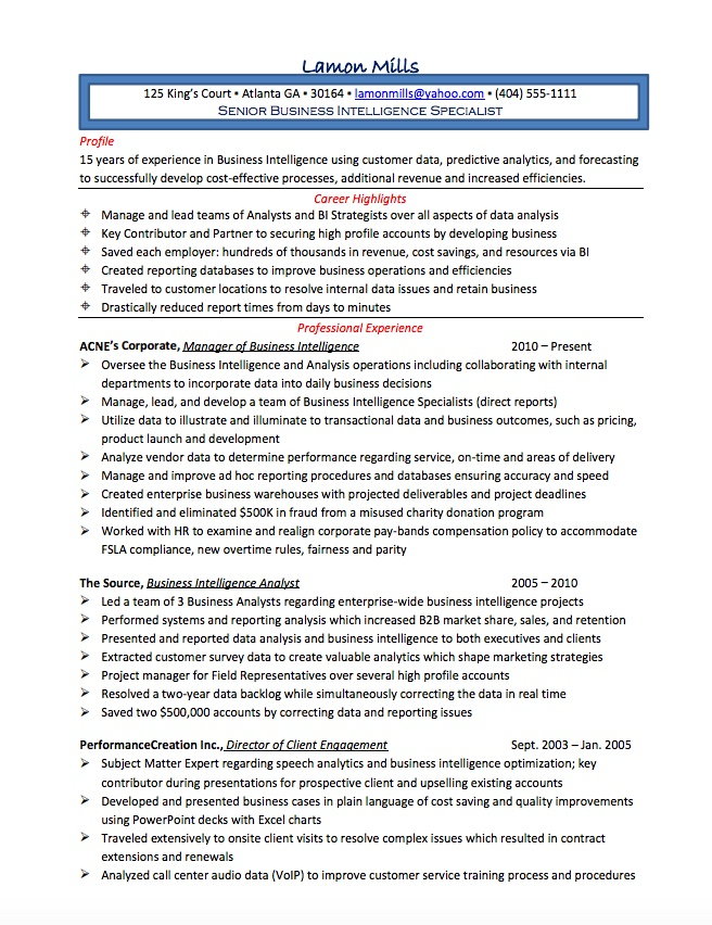 resume makeover for business analyst resume careercloud