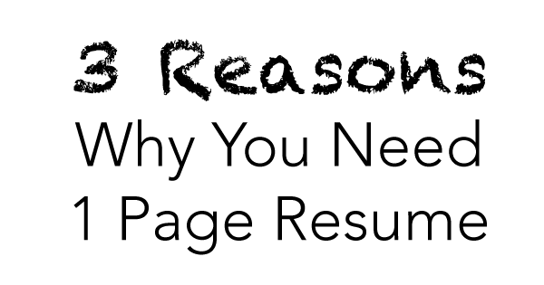 while skimming the blogosphere i stumbled upon a career experts recent post where he advised that sticking to a one page resume is an old school rule