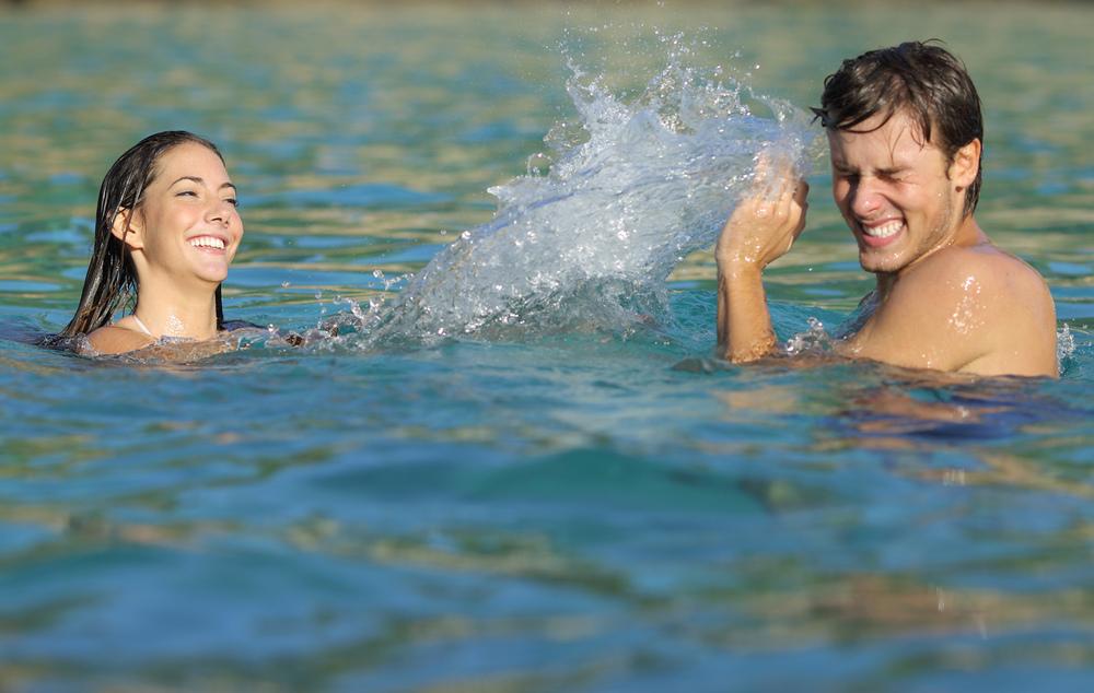 Pina byr på gode bademuligheter omgitt av fantastiske omgivelser.