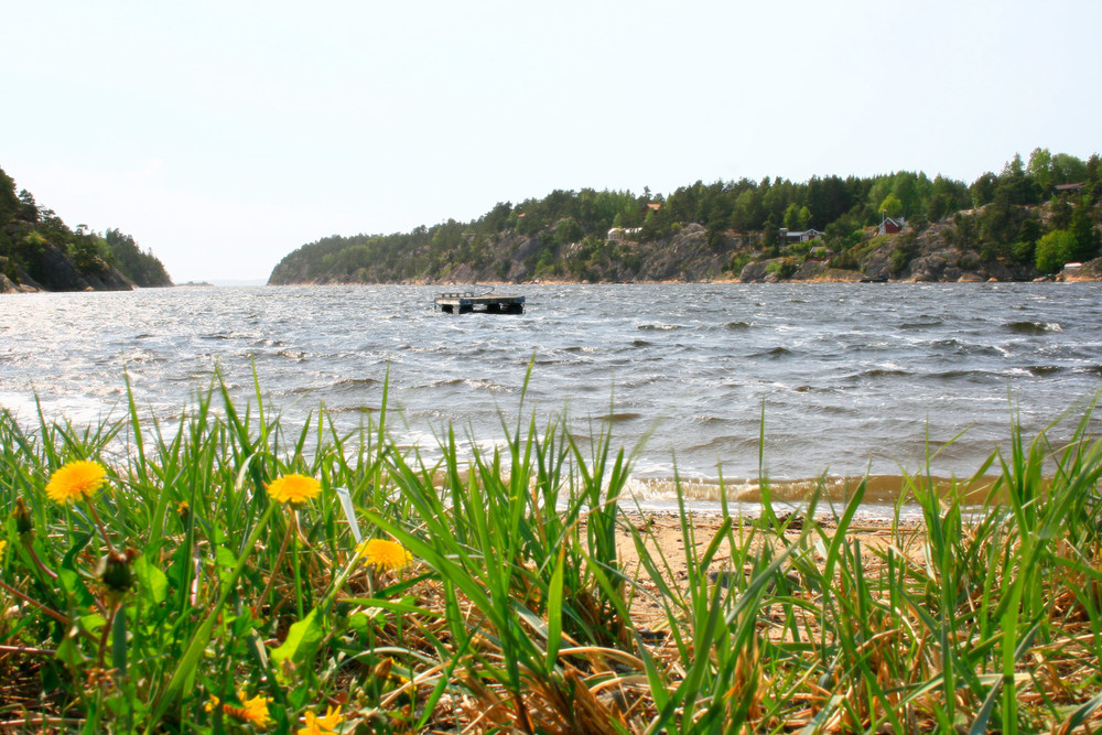 Innerst i Røsneskilen (noen kilometer nord for Sponvika) er det en flott badestrand.