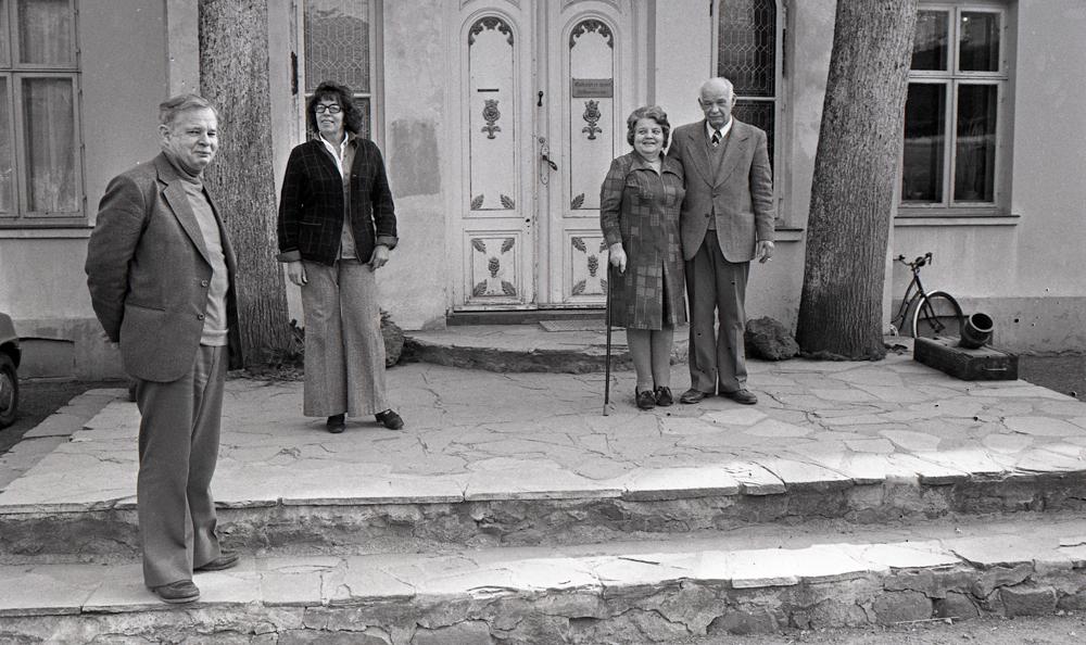 Fra venstre: Lars og Ellen Brandstrup og Niels og Agnete Brandstrup. Foto Moss Avis