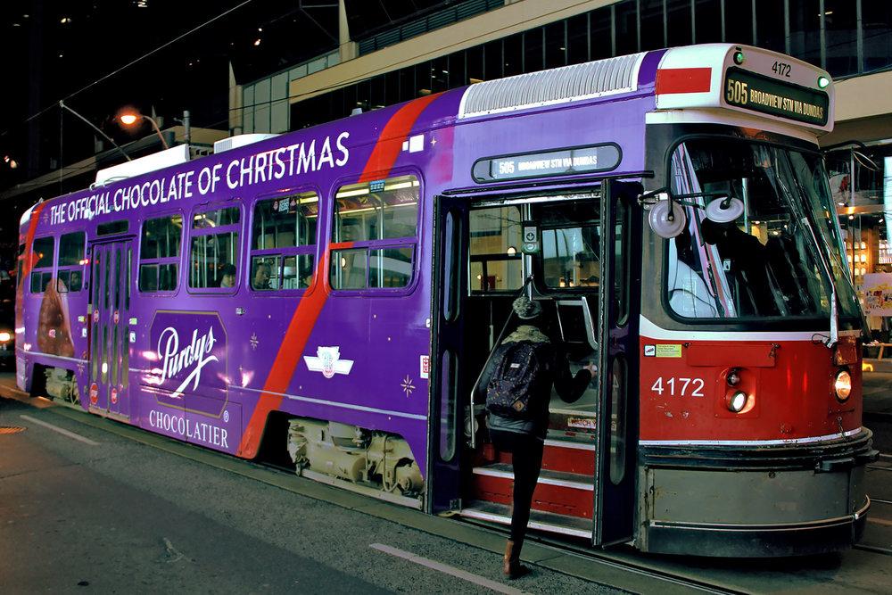 Purdys Streetcar Wrap/Takeover - 2016
