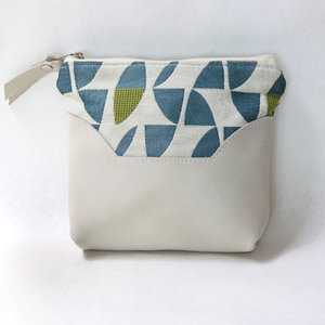 c86b89233e31 Upcycled Leather and Upholstery Accessory Bag    Daisy    Cream
