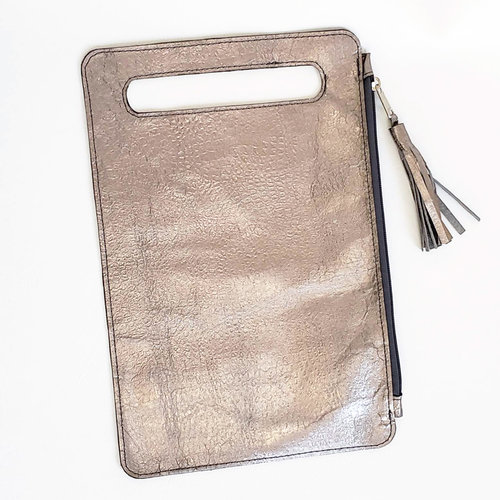 d2dae8a685 silver leather tablet sleeve