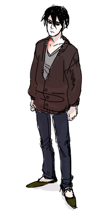 what i wore today featuring Hei from Darker than Black (or at least, what I remember him looking like)