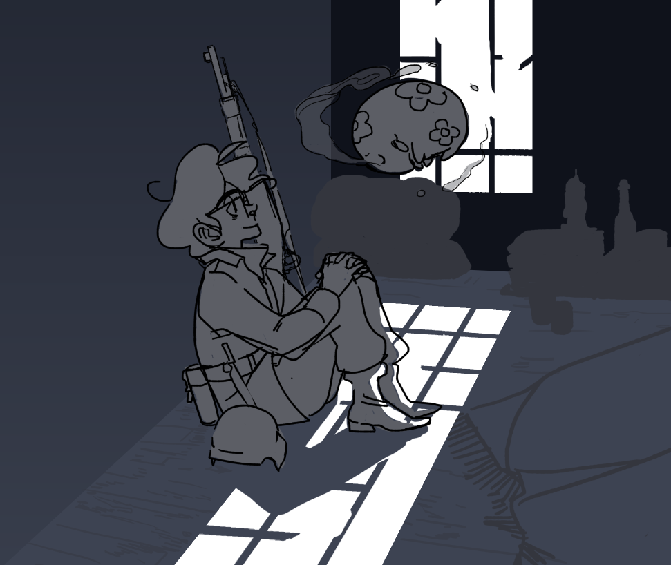 wwI bespectacled sniper claude and munna