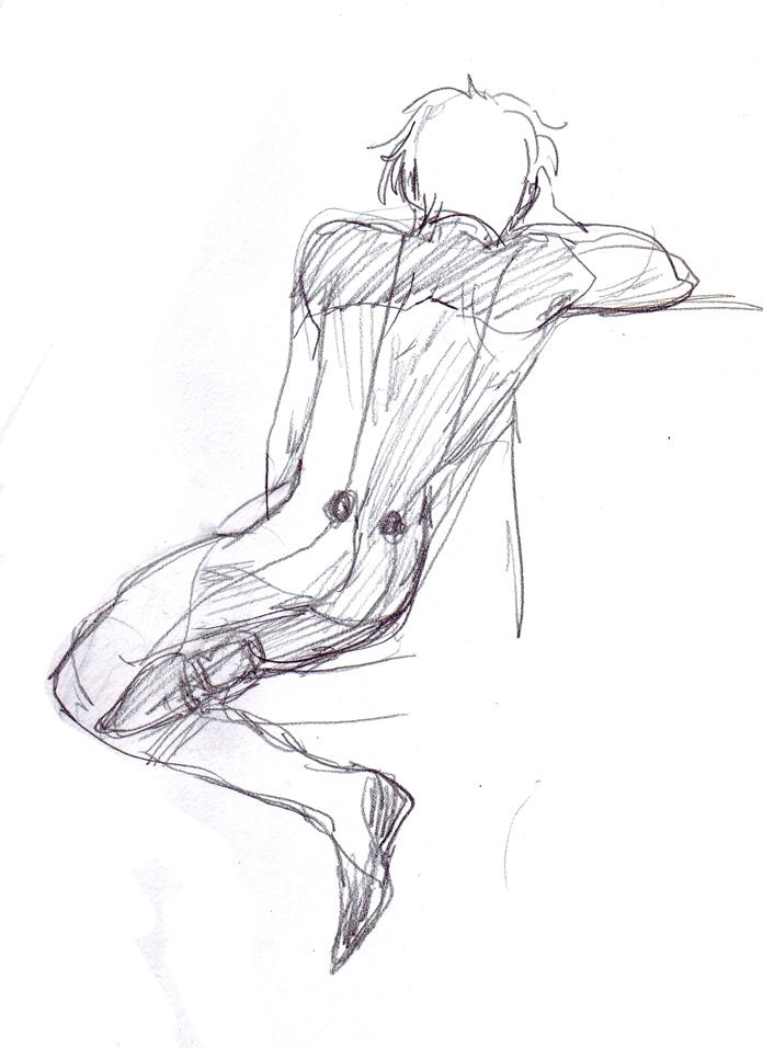 a sad suzaku doodle