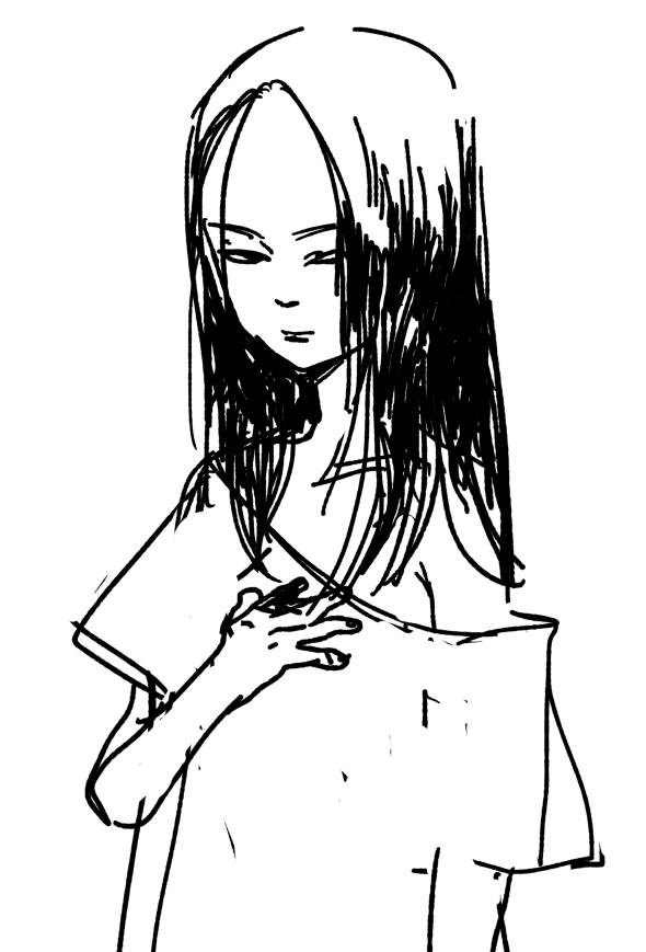generic creepy girl