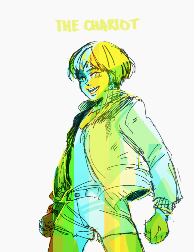 quickie chie without reference. Finally been playing persona 4 arena and missing all these nerds.