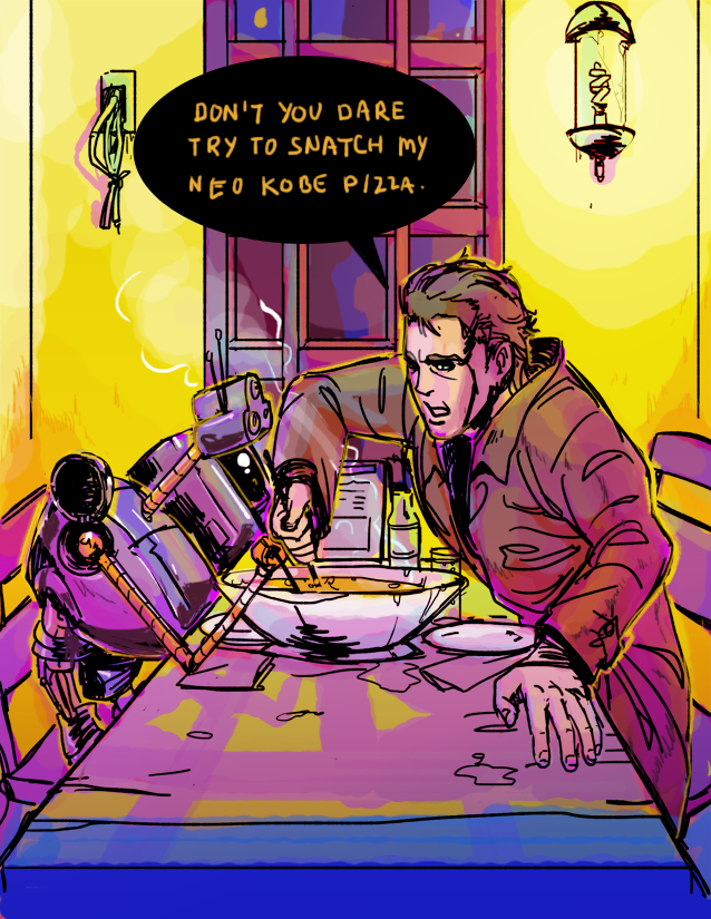 filbypott :      [snatcher] neo kobe pizza gif  by  deadums      rebloggin my art~