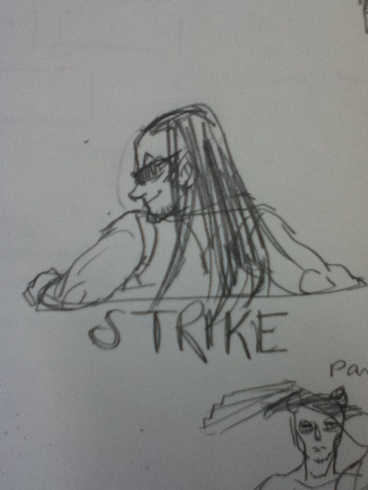 I finally realize that equiis or whatever his name is from homestuck reminds me of strike from bustagroove.