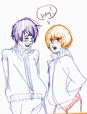 one day I am going to draw kou and chie awkwardly making out in the gym storage room.