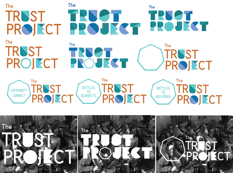 Logo exploration of Trust Project, an earlier iteration of the organization's name.