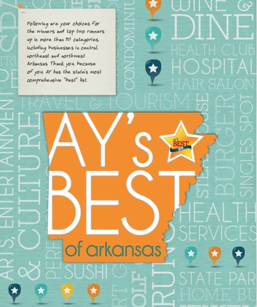 AY Magazine. May 2014. Voted #1 Interior Design Firm in Northwest Arkansas.
