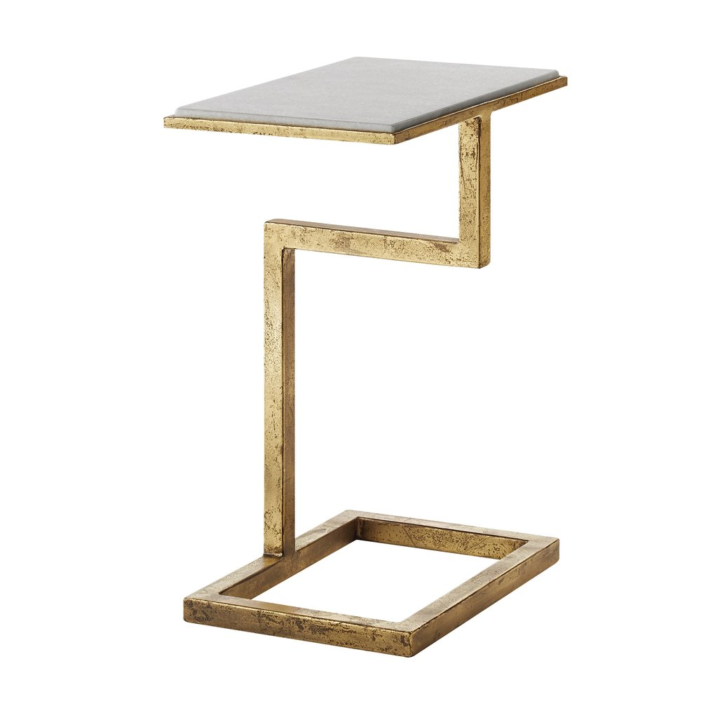 Goldmarble End Table Whiteline Designs