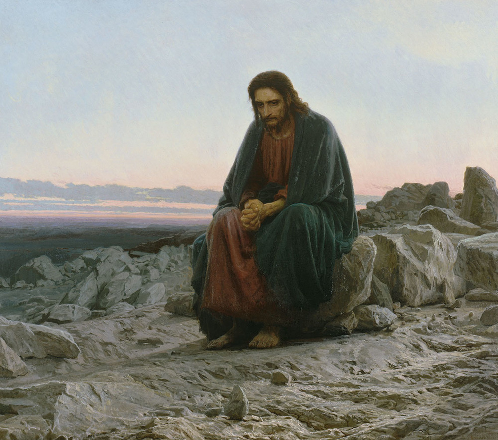 """Ivan Kramskoi (1837-1887), """"Christ in the Desert."""" Image source:  WIkimedia Commons"""