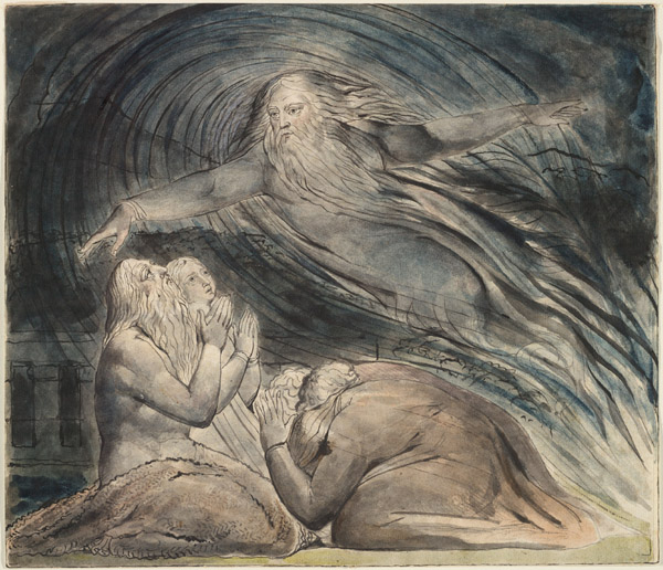 """Job's Evil Dreams"" by William Blake.   http://commons.wikimedia.org/wiki/File:Blake_Book_of_Job_Linell_set_13.jpg"