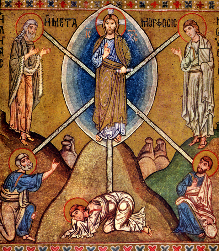 Transfiguration, from  Art in the Christian Tradition , a project of the Vanderbilt Divinity Library, Nashville, TN.  http://diglib.library.vanderbilt.edu/act-imagelink.pl?RC=49145  [retrieved August 28, 2017].