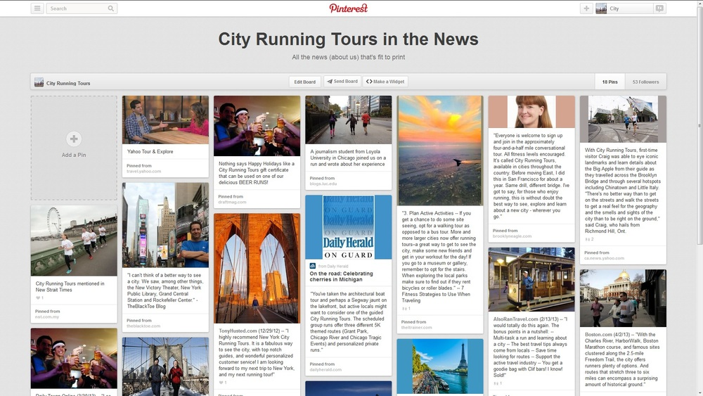 CITY RUNNING TOURS IN THE NEWS