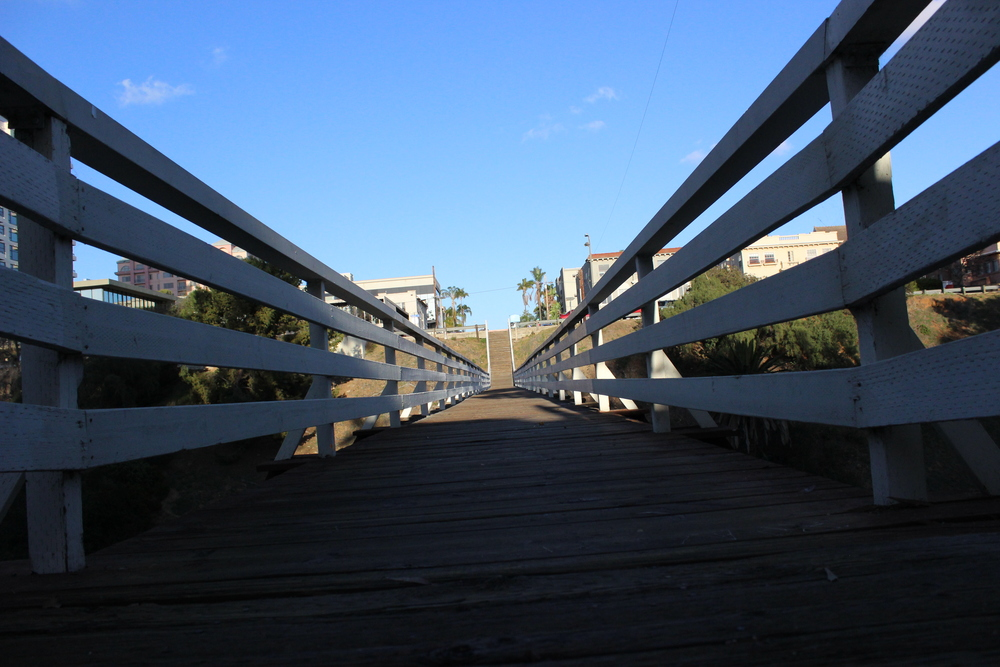 WOODEN PEDESTRIAN BRIDGE