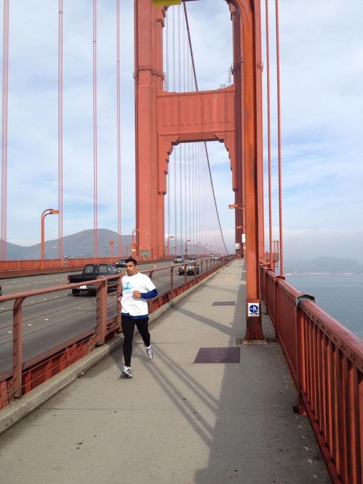 City Running Tours San Francisco will lead you on exciting routes that will show you the sights (Golden Gate Bridge, pictured above) and achieve your desired distance