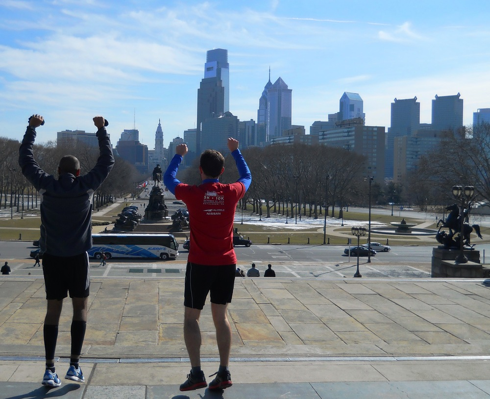 Reach your goals on a City Running Tours Philadelphia sightrunning tour! Feel like a champ and run to the top of the famous Rocky Steps to the Philadelphia Museum of Art