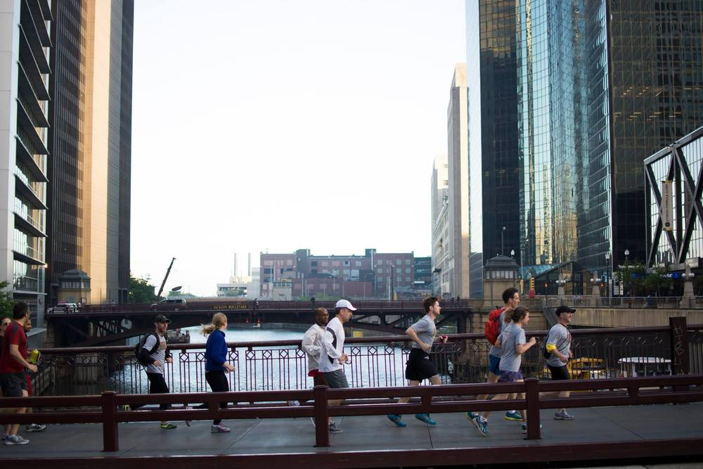 Join City Running Tours Chicago on either the  Burnham Plan Tour  or the  Streeterville Tour  to run along the Chicago River