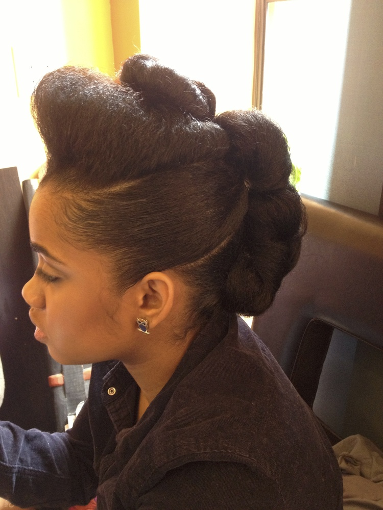Sculpted Updo on Natural Hair