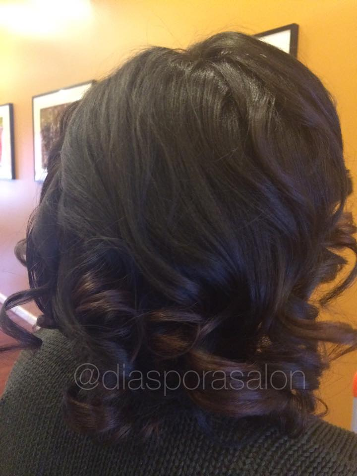 Healthy Blow Dry & Ceramic Press on Natural Hair