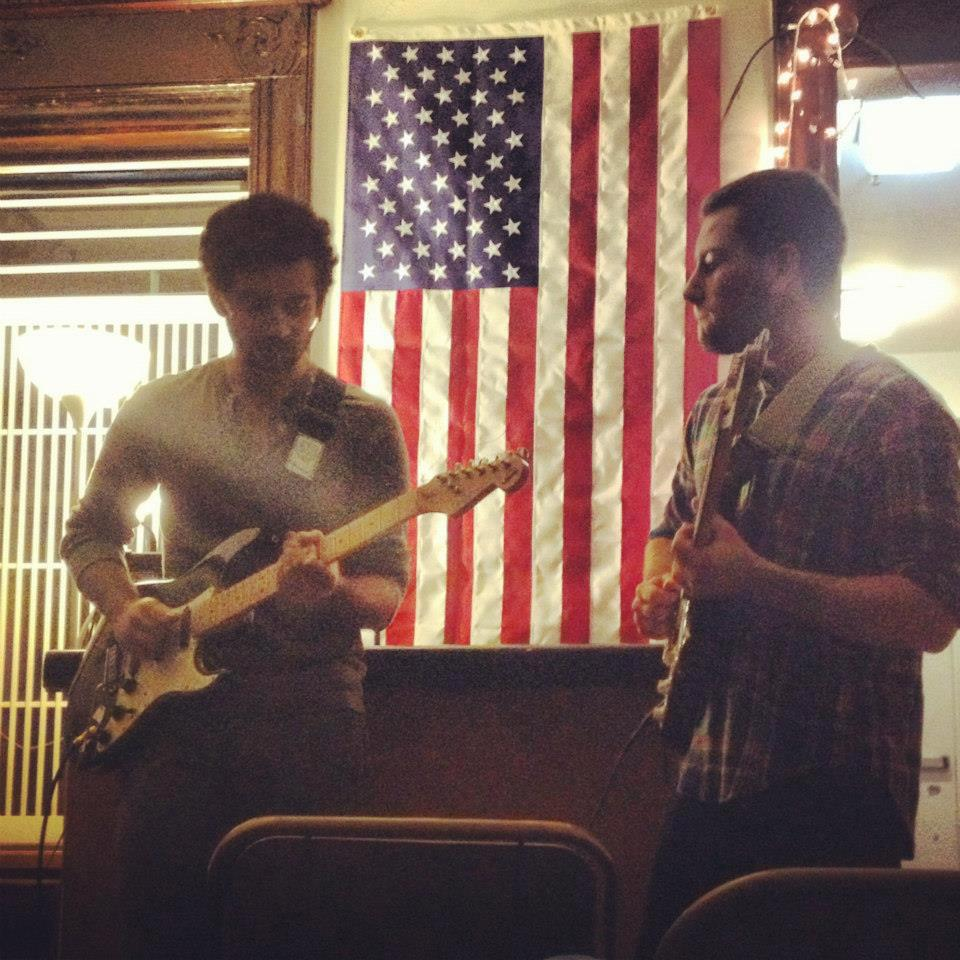 Bros, Brose, and Broetry: Jam session at the Quarto Open Mic Night in our brownstone with brothers Munna Uppal (left) and Alan Seltzer (right); just one example of the unique opportunities Sigma Nu offers to connect brothers to each other and to campus organizations.