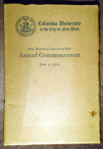 1919 Commencement Program