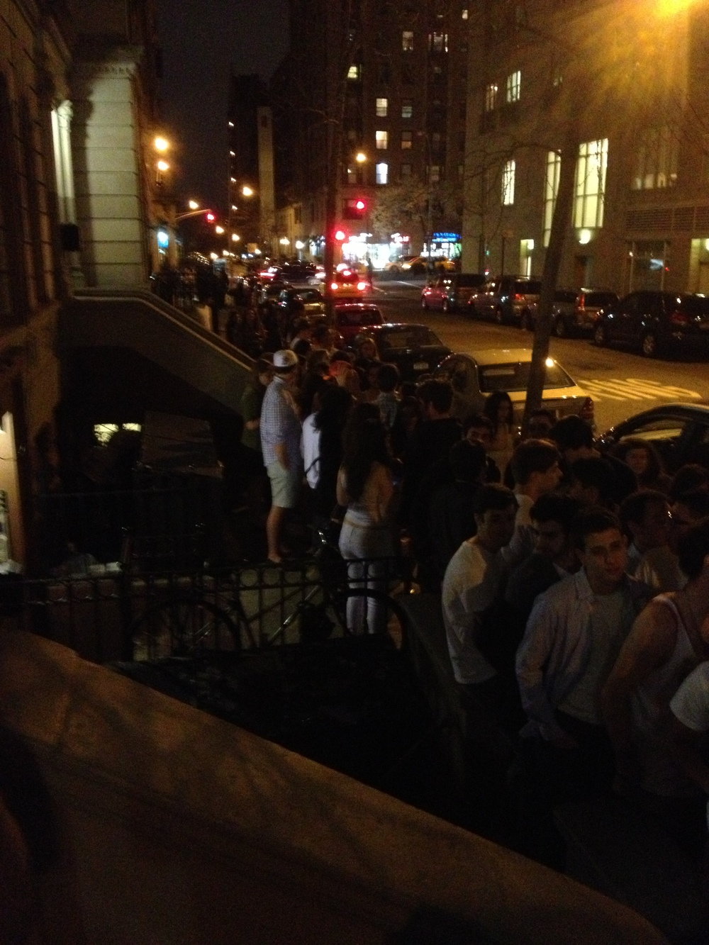 The view from our stoop: We also have social events. They are very well attended.