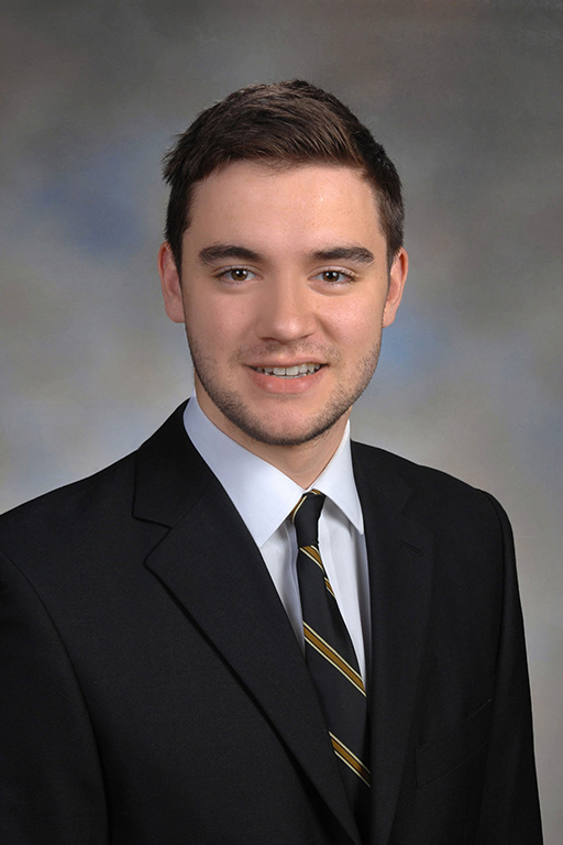 Jack Foster:      Jack is in the CC class of 2017 and is originally from Silver Spring, Maryland.  He attended Montgomery Blair High School.  He majored in financial economics, and he was a captain of the Men's Swimming and Diving team.  He interned at Digital Capital Advisors.