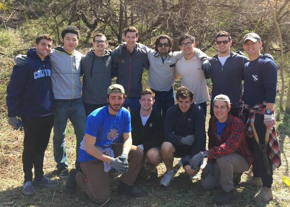 Integrity & Commitment: Several of our Spring 2016 candidates volunteered with brothers as part of the Columbia Community Outreach (CCO) project.
