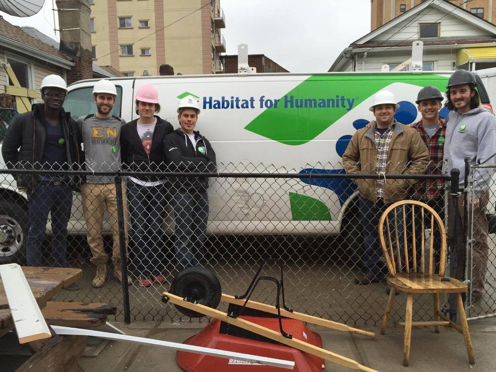Habitat for Humanity:  Our brothers volunteered to renovate homes in Brooklyn in the spring of 2016.